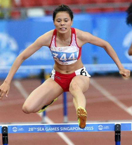 Cô gái vàng điền kinh bất ngờ rút lui ở giải quốc gia - Hình 1