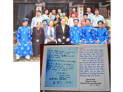 Ông Ban Ki-moon là người gốc Việt? - Hình 1