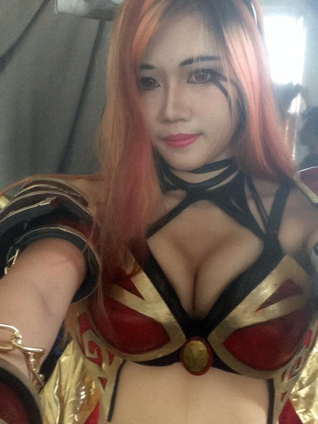 Fiery Air Kiss To Dota Cosplay Pornstreams 1