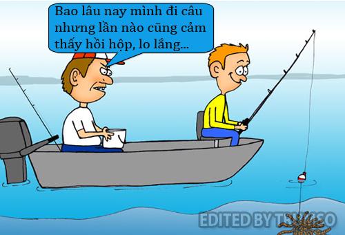 Không thể thư giãn khi câu cá - Hình 1