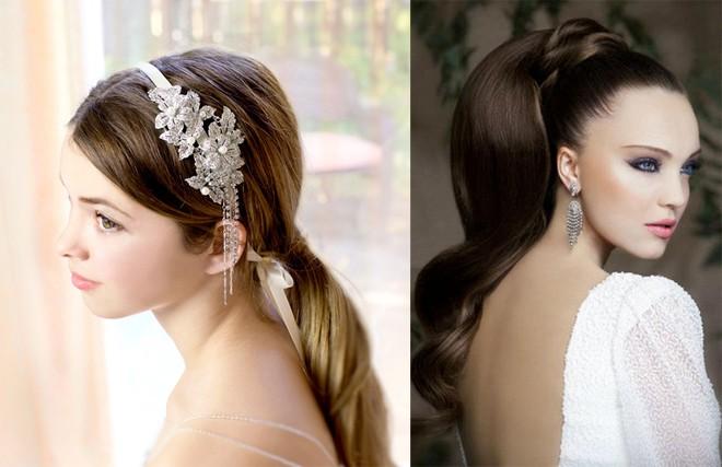 6 kiểu tóc buông dài giúp cô dâu thêm quyến rũ - Hình 15