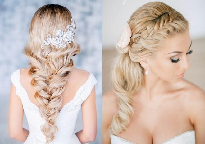 6 kiểu tóc buông dài giúp cô dâu thêm quyến rũ - Hình 5