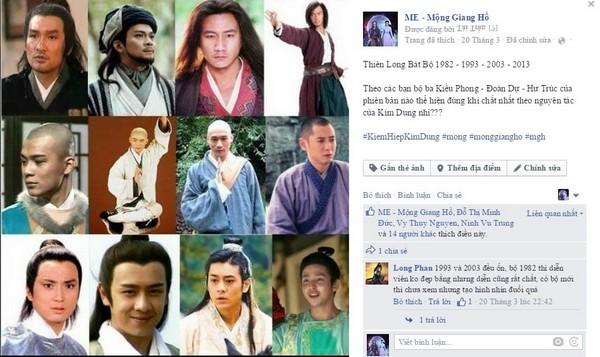 Dàn sao Hoa ngữ hội tụ trên fanpage Mộng Giang Hồ - Hình 1