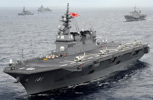 Hải quân Nhật nhận tàu sân bay trực thăng khủng Izumo - Hình 1