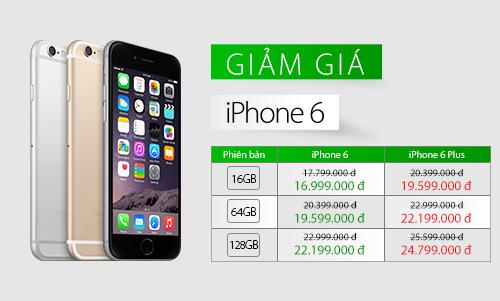 Giá iPhone 6, 6 Plus giảm sâu - Hình 1