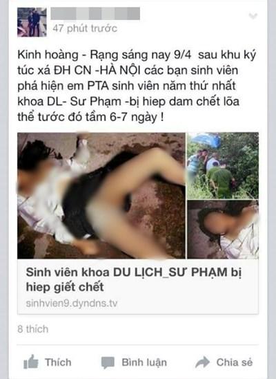 Vụ tung tin đồn nữ sinh bị hiếp, giết ở Hà Nội: Triệu tập nhiều đối tượng - Hình 1