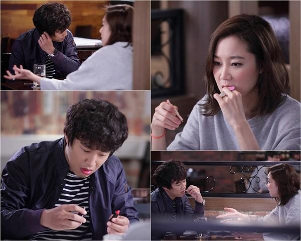 Cha Tae Hyun tô son môi, Gong Hyo Jin mặt đỏ hồng vì say rượu - Hình 2