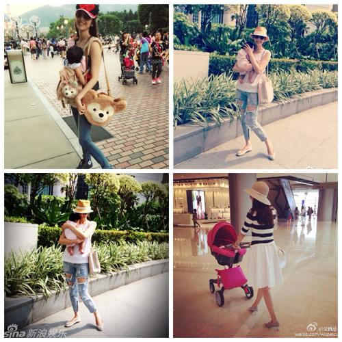 Khoảnh khắc yêu thương của các cặp mẹ con sao Hoa ngữ - Hình 1