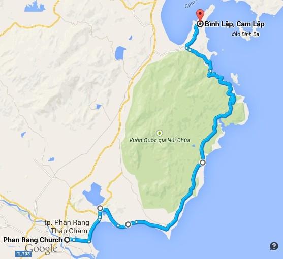 Khung cảnh ngoạn mục dọc đường ven biển Phan Rang - Cam Ranh - Hình 1