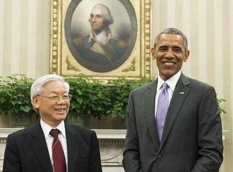 Hình Ảnh Tổng Thống Hoa Kỳ Tiếp Tổng Bí Thư Tại Phòng Bầu Dục - Hình