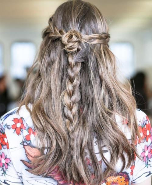 Các kiểu tết tóc đẹp cho bạn gái đón Tết - Hình 13