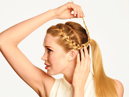Các kiểu tết tóc đẹp cho bạn gái đón Tết - Hình 7