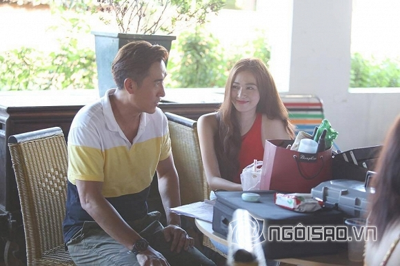 Khánh My chăm chút từng miếng ăn cho tài tử TVB tại phim trường - Hình 1