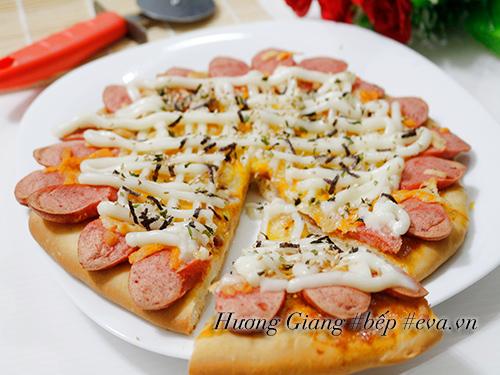 [Chế biến] , Bánh pizza xúc xích giăm bông tuyệt ngon , Hình 9
