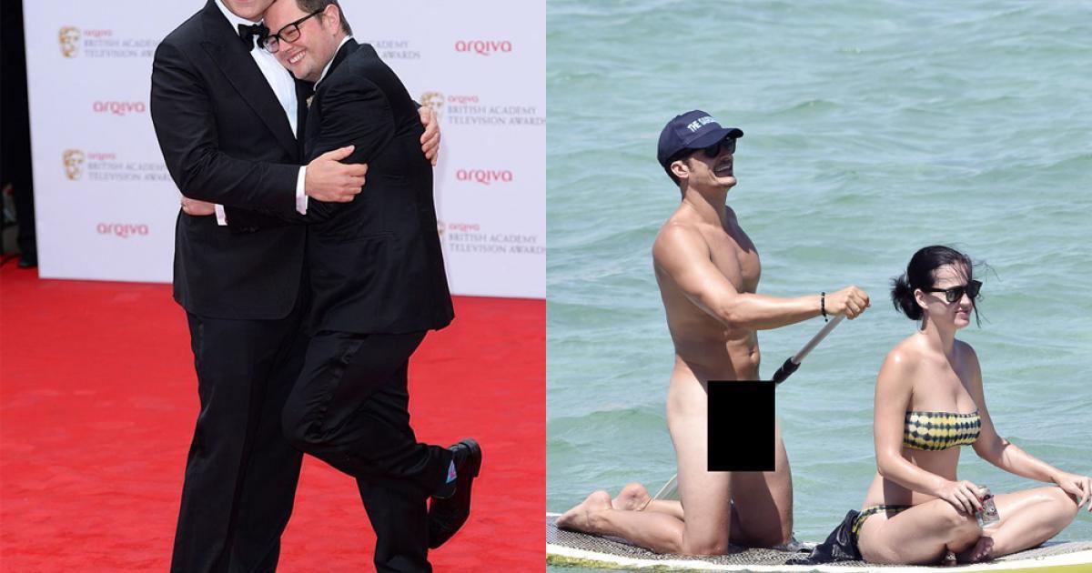 Hai danh hài diễn lại khoảnh khắc nude 'bất hủ' của Orlando Bloom