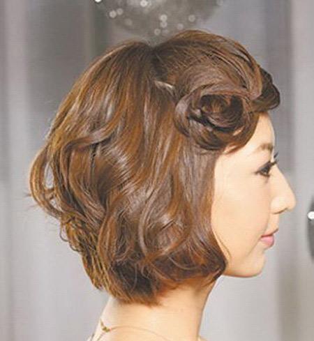 Biến tấu mái tóc ngắn cực dễ thương tại nhà - Hình 7