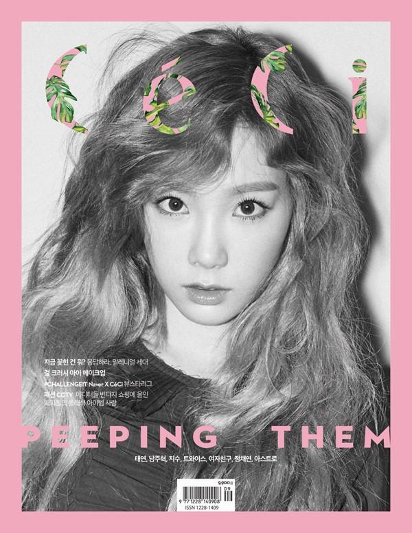 Trưởng nhóm SNSD làm công chúa tóc vàng trên tạp chí