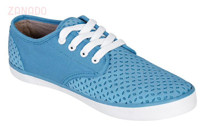 Giày Sneakers nữ QuickFree Pan Leather Perforation W160202 SID47796 - Hình 2