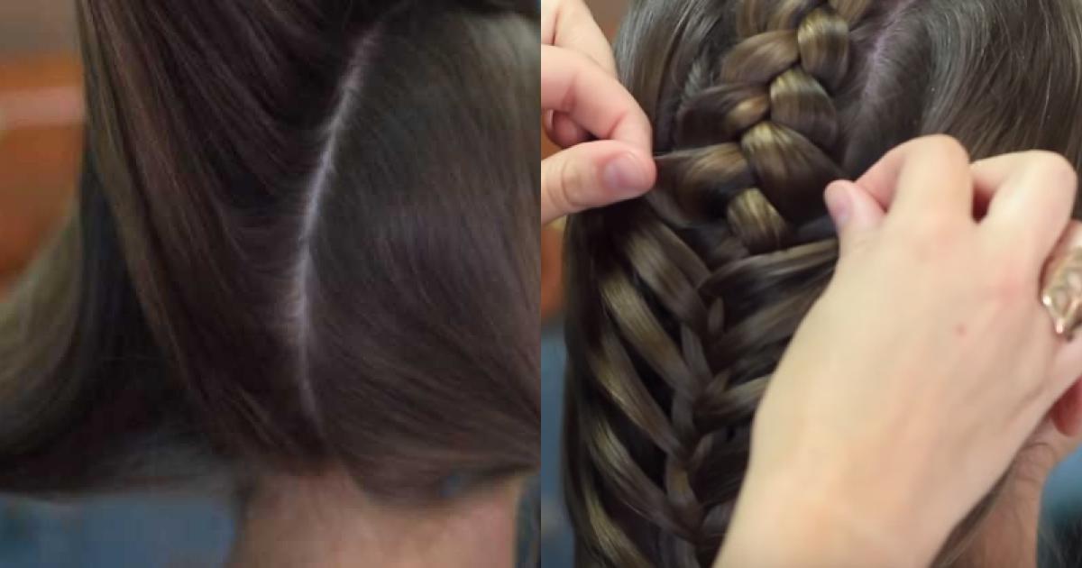 Hướng dẫn tết tóc kiểu xương cá