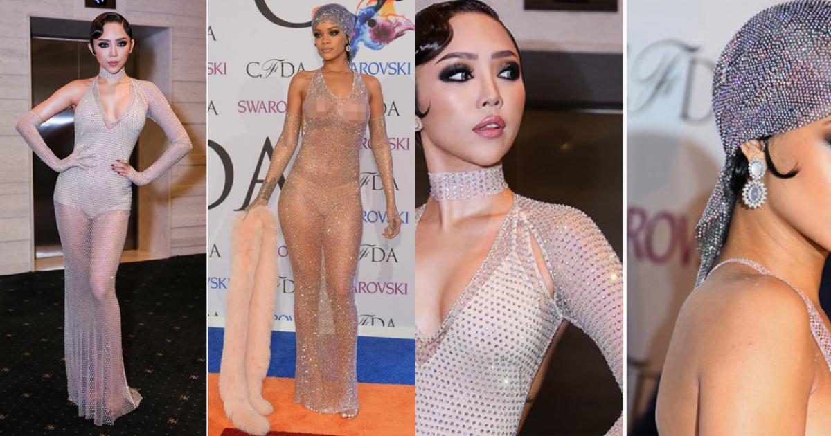 Tóc Tiên bị nghi nhái phong cách Rihanna ở The Face