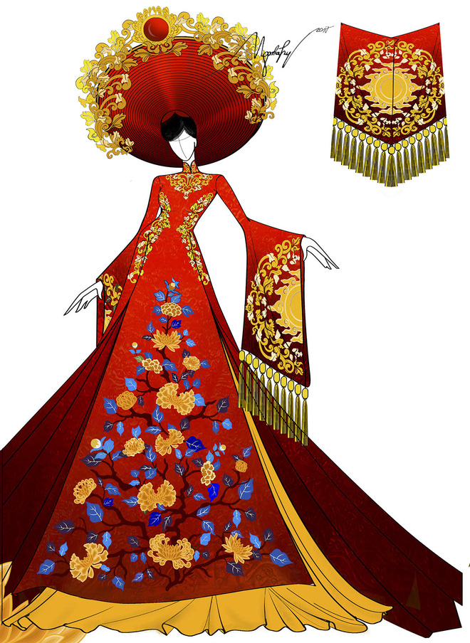 Ngắm trang phục truyền thống nặng hơn 30kg mà Huyền My sẽ mặc tại Miss Grand International 2017
