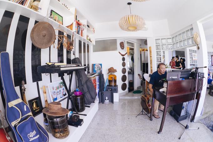 Căn nhà ấm cúng, đầy chất nhạc của nhạc sĩ Trần Tiến ở Vũng Tàu