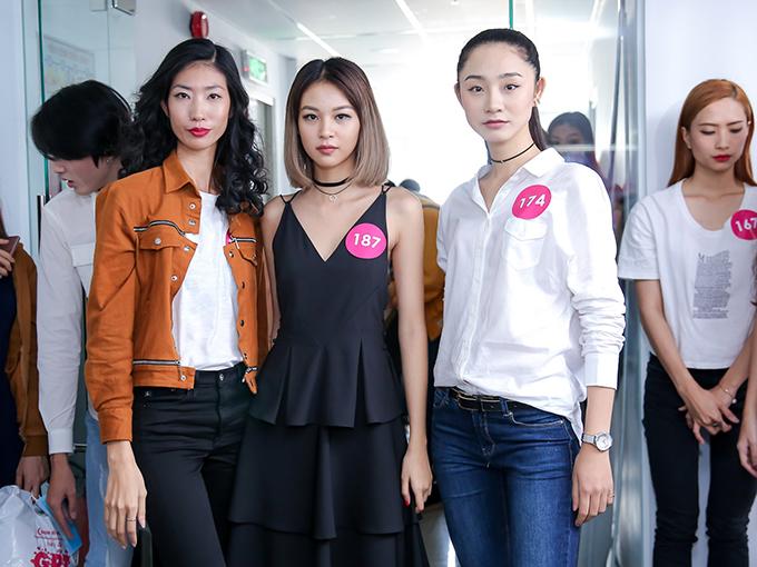 Hoàng Thùy, Lan Khuê cá tính đi casting model