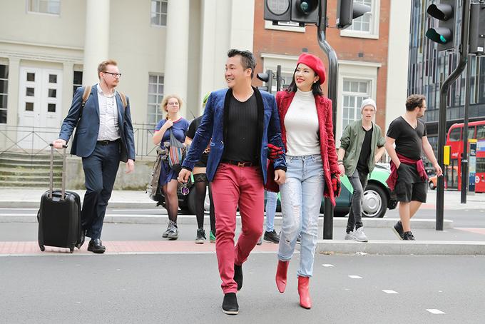 Việt Trinh, Lý Hùng tay trong tay dạo phố London