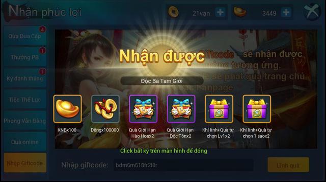 """Độc Bá Tam Giới chính thức ra mắt, tặng 1000 Giftcode siêu """"hot"""""""