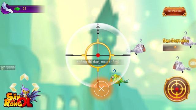 """Săn Rồng Online bất ngờ hé lộ minigame bắn chim cực vui nhộn, mỗi tội thiếu mất chú chó """"láo toét"""""""