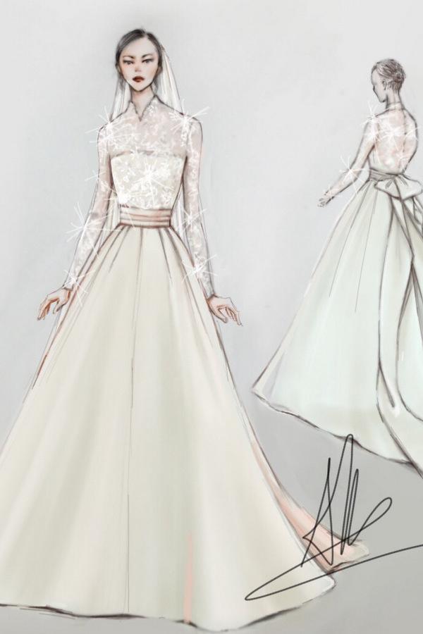 Ba bộ áo cưới của Hoa hậu Thu Thảo
