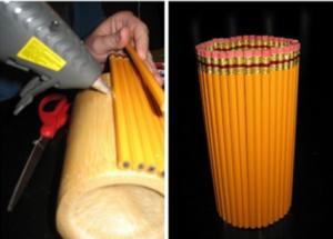 Cách làm lọ hoa bằng bút chì đẹp mắt