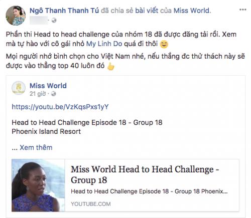 Lan Khuê, Thu Thảo kêu gọi bình chọn cho Đỗ Mỹ Linh trước thềm chung kết Miss World 2017