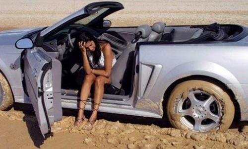 Lần đầu vợ lái xe