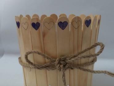 Cách làm chậu hoa bằng que đè lưỡi - Hình 8