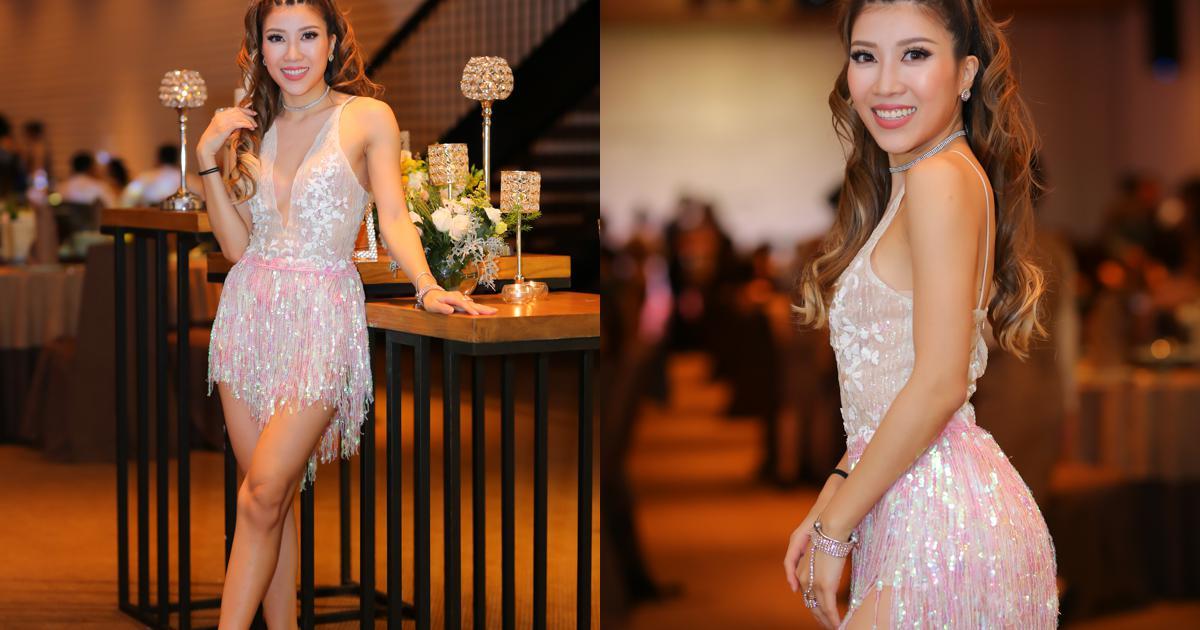 MLee, Trang Pháp mặc sexy, đọ chân dài trong sự kiện