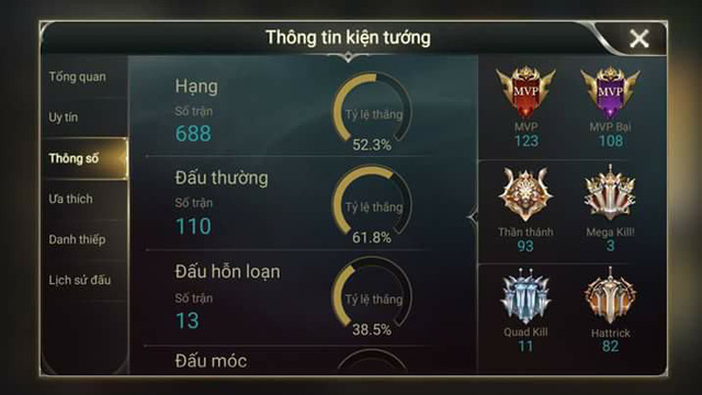 Liên Quân Mobile: Không nạp một đồng nào, game thủ này vẫn leo tới rank Cao Thủ với Triệu Vân - Hình 4