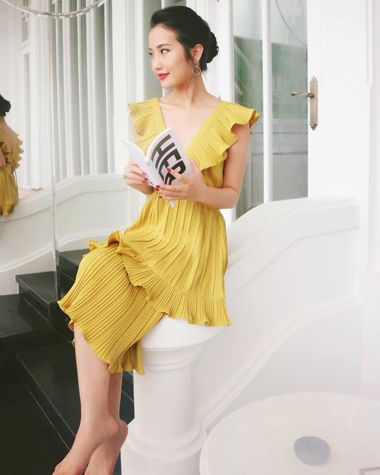 Phong cách đúng chuẩn lá ngọc cành vàng của tình mới Phan Thành