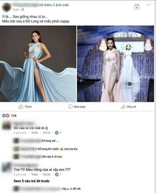 Mẫu váy 'đụng hàng' kỷ lục của Đỗ Long bị thương hiệu Việt sao chép đến 95%