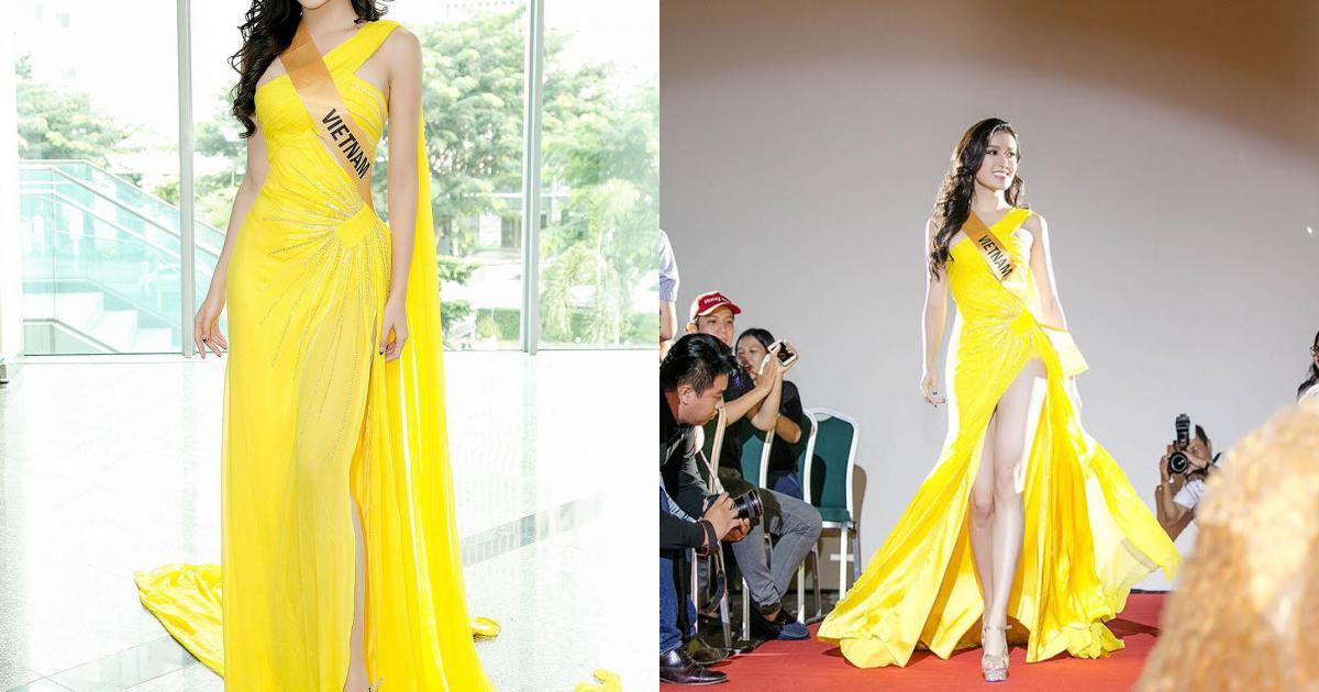 Chiếc váy vàng choé xẻ đùi bất tận: Cuộc đụng độ mới của Huyền My và Hà Thu!