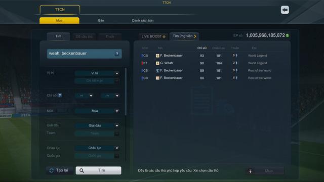 FIFA Online 3: George Weah, Franz Beckenbauer và Iker Casillas sắp được đưa vào danh sách giới hạn