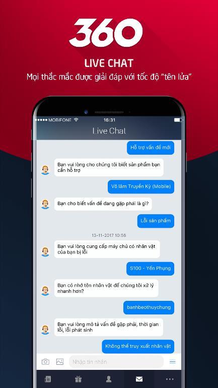 Tải app VIP 360 - Cổng hỗ trợ khách hàng trực tuyến dành cho game thủ VNG - Hình 1
