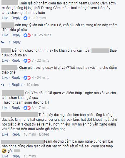 Netizen bất bình với cách chấm điểm của khán giả trường quay Sao đại chiến: Team Miu Lê bị chê vẫn điểm cao hơn team Dương Cầm