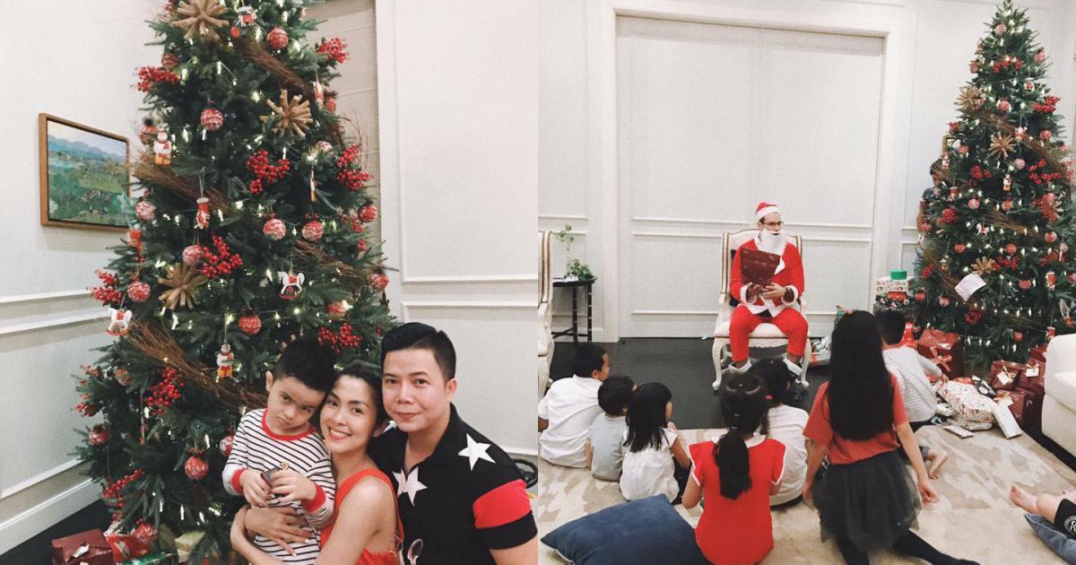 Tăng Thanh Hà và hội bạn tri kỷ tổ chức tiệc Giáng sinh sớm cho các con