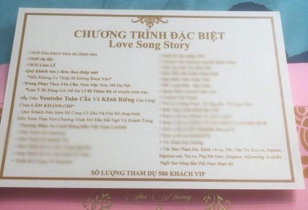 Hé lộ thiệp mời nhiều chữ nhất showbiz của Lâm Khánh Chi, đám cưới được 'trực tiếp YouTube toàn cầu'