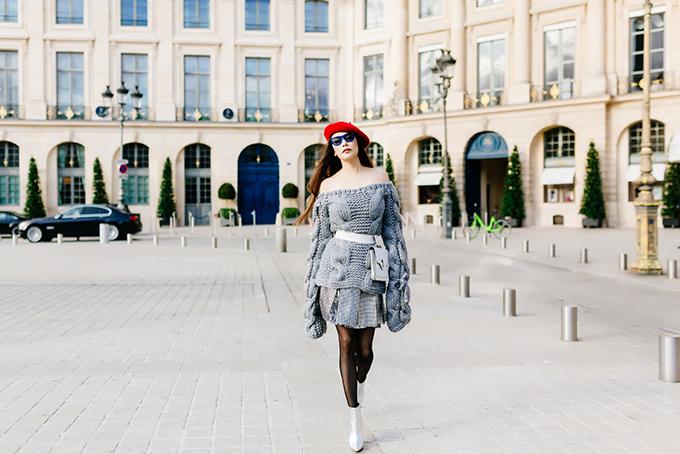 Hồ Quỳnh Hương lột xác khi dạo phố Paris