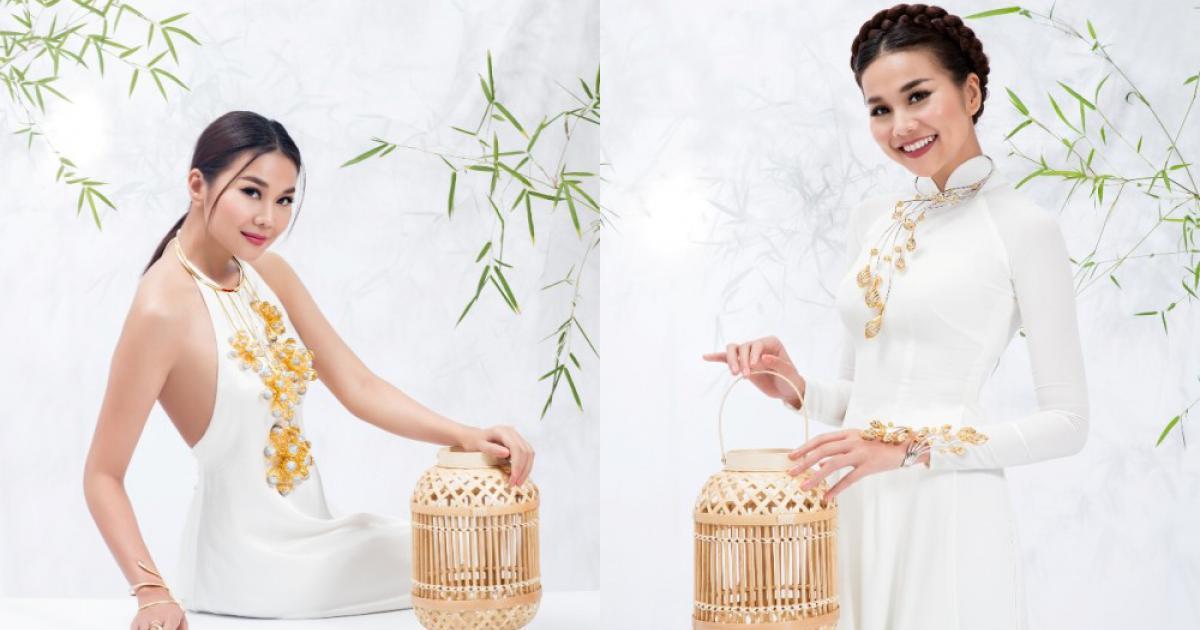 'Mẹ chồng' Thanh Hằng diện áo yếm, nâng niu bó hoa sen vàng gần 3 tỷ đồng