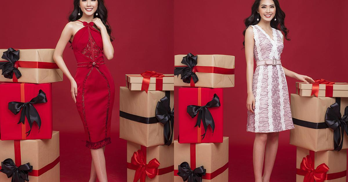 Tường Linh thả dáng trong trang phục đi chơi Noel
