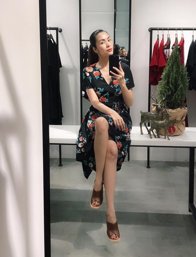 Khoe ảnh selfie sang chảnh, Hà Tăng để lộ thân hình mảnh mai lộ rõ