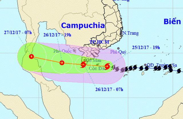 Bão số 16 và nguy cơ lốc xoáy nguy hiểm tại Nam Bộ